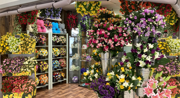 cwmbran indoor market flowers